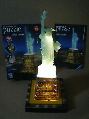 Ravensburger 3D Puzzle  STATUE OF LIBERTY - NEW YORK . Night Edition. Complete. • 12.99£