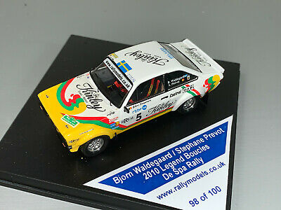 Rally 1/43 Trofeu Ford Escort Rs1800 Kinley Waldegaard Code 3 Boucles Spa 2010 • 16£