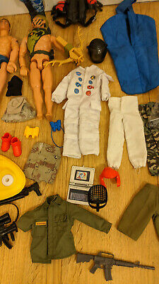 Large Bundle Action Man / Accessories Clothes Guns Toys Parachute Etc • 29.99£