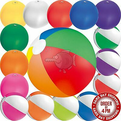 Inflatable Blow Up Beach Ball Holiday Swimming Colour Pool Party Toy Blowing • 2.49£
