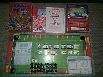 Blood Bowl 1st Edition Red Box Boxed Complete & Skaven Scramblers Expansion Rare • 29.99£