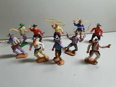 Timpo Wild West Cowboys, Pistol, Lasso Sheriff 1st, 3rd 4th Series? Vintage Toy • 20£
