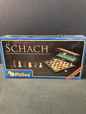 Schach-CHESS Set - With Magnetic Closure -MADE IN GERMANY -WOODEN Field 19mm • 45£