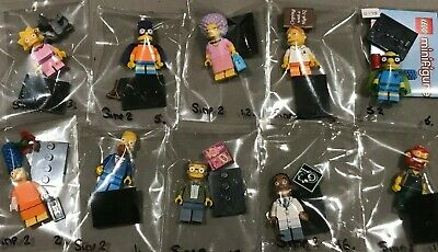 Lego The Simpsons Series 2 Minifigures Set Of 10 - EX Condition • 25£