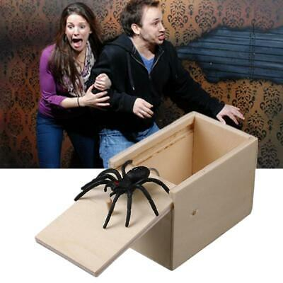 Wooden Prank Spider Scare Box Hidden In Case Trick Play Joke Gag Toys Gift Xmas • 3.89£