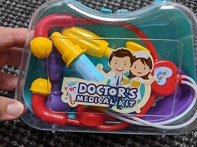 Small Plastic Doctors Kit In Carry Case • 2£