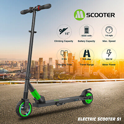 🛴Folding Electric Scooter 250W Motor 23Kph Fast Scooter Kid Kick Push E-Scooter • 148.76£