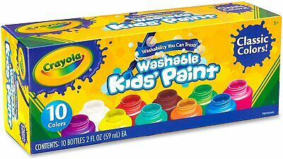 Crayola Washable Kids Paints - 10 Pack Of Colours • 14.49£