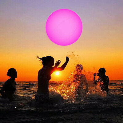 Swimming Pool Toy 13 Colors Glowing Ball Inflatable Led Glowing Beach Ball • 8.89£