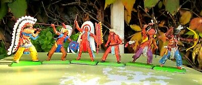 Britains Deetail Plains Indians - Full Set Of 6  • 2.41£