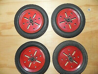 Meccano Wheels With Dunlop Tyres • 10£