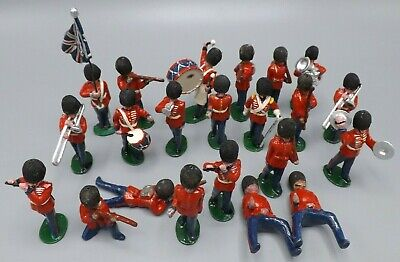 22 Vintage Lead Painted Figures Grenadier Queen's Guard  Soldiers Marching Band • 59.99£