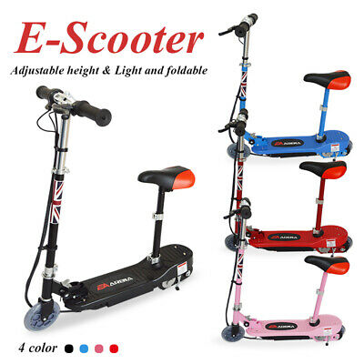 120W Electric Scooter Kids Battery Ride On E-Scooter Bike Stand Free Knee Pad  • 84.99£