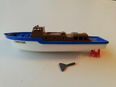 vintage Scalex Triang Boat Christine, Wind Up With Key • 7.30£