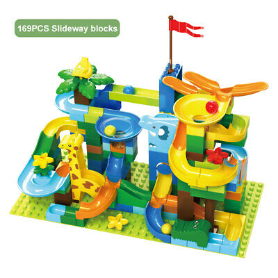 Slide Blocks Set Marble Race Run - Compatible With Duplo - Educational Toys • 9.99£