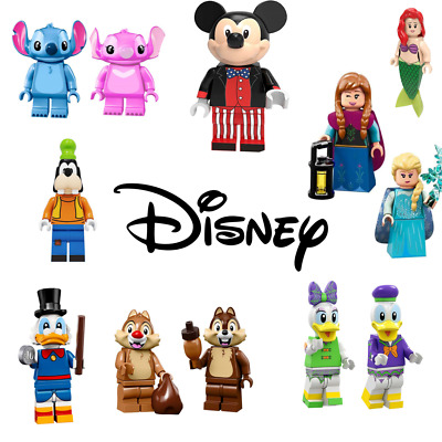 Disney & Friends Mini Figures Lego Compatible Stitch Minnie Mickey Minifigures  • 2.99£