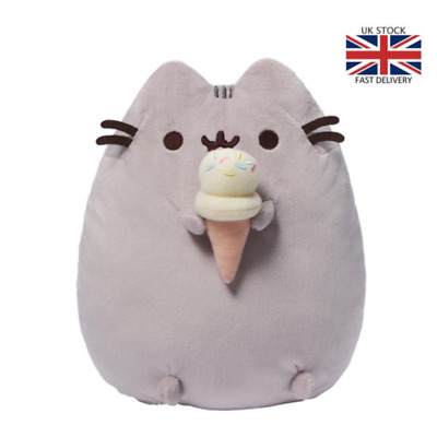 UK New Pusheen The Cat Pusheen With Ice Cream Plush Soft Toy Child Gift 2020 Hot • 10.99£