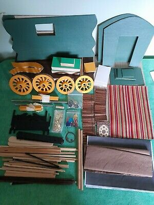 Gypsy Romany Caravan Vintage Model Kit To Make~wood~fabric~interesting Project~ • 6.49£