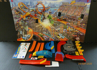 Hot Wheels Wall Tracks Mid Air Madness Complete Track Set Unboxed NM • 21.97£