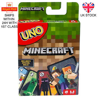 UNO Minecraft Family Card Game Brand New UK Stock • 5.88£