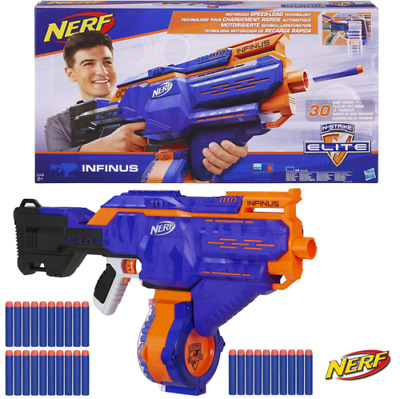 NERF Infinus Motorized N-Strike Elite 30 Dart Drum Blaster Gun  • 49.95£