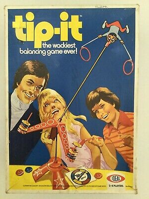 Tip-it The Classic Family Table Game 2-4 Players Vintage 1974 Ideal Game 100% • 7.99£