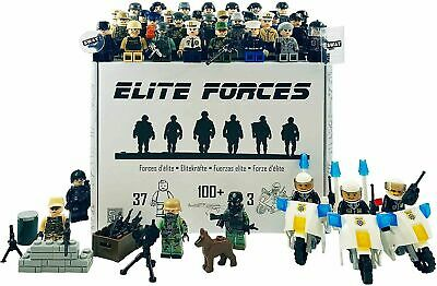 Army Police SWAT LEGO Compatible Figure Set 100+ Accessories 37 Mini Figures • 15.99£