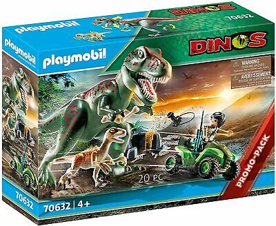 Playmobil 70632 Dinos T-Rex Attack With Raptor And Quad • 44.99£
