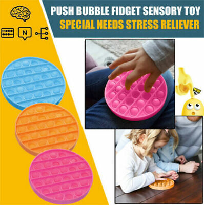 Push Pop Bubble Sensory Fidget Toy Autism Special Needs Silent Classroom UK • 4.29£