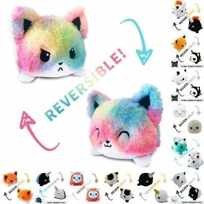 New Double-Sided Flip Reversible Animals Plush Toy Stuffed Doll Christmas Gift • 6.99£