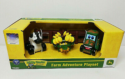 Tomy John Deere Johnny Tractor & Friends Farm Adventure Playset - With Cow • 13.95£