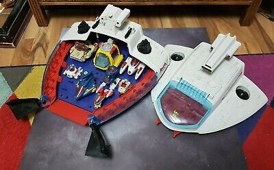 Vintage 'MANTA FORCE COMMAND SHIP' With Vehicles Inside 1986 Bluebird Toys • 40£