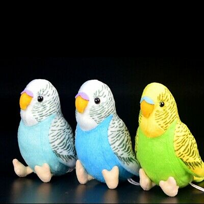 2 Colors Plush Cuddly Critters Green Or Blue Budgerigar Soft Toy Budgie  Gift • 5.89£