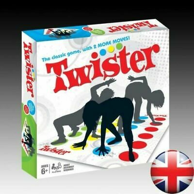 Twister The Classic Family Kid Party Body/Game With 2 More Moves Toy Spiral UK- • 7.99£