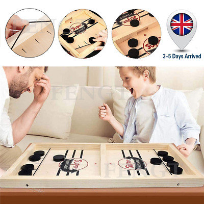 Wooden Hockey Game Table Game Family Fun Game Parent-child Interactive Toy • 9.59£
