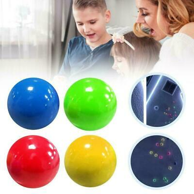 4X Fluorescent Sticky Wall Ball Sticky Target Ball Decompression Toy Kid Gift Uk • 4.99£