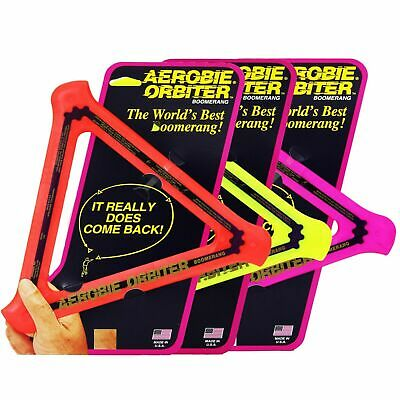 AEROBIE Boomerang Orbiter Frisbee Soft Flying Ring Disc Toy Catch Outdoor Game • 7.95£