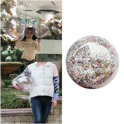 16 Inches Glitter Sequin Inflatable Ball Pool Beach Ball Swim Party Favor • 4.09£