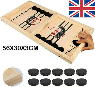 Table Fast Hockey Sling Puck Game Paced Sling Puck Winner Party Game Fun Toys UK • 14.99£