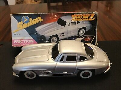 Mercedes Benz MF 326 Friction Drive Tinplate Car With Sound. Vintage. Boxed VGC • 9.99£