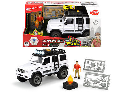 Dickie Toys Playlife Adventure Set Inc Mercedes Jeep 4x4 With Lights & Sound! • 11.70£