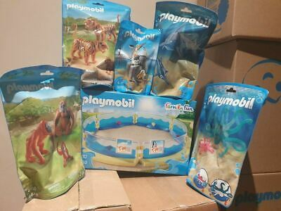 Playmobil 6 Set Animal / Zoo Bundle & Aquarium Enclosure RRP £59.93 • 29.95£