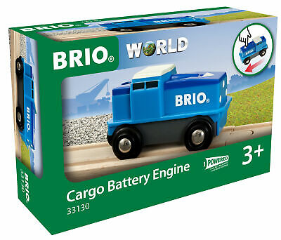 BRIO 33130 Cargo Battery Train Engine Wooden Plastic Railway Age 3 Years+ • 14.99£