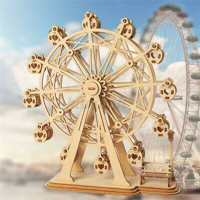 Woodcraft Construction Kit - Ferris Wheel Wooden Model 3D Puzzle For Kids Gift  • 9.99£