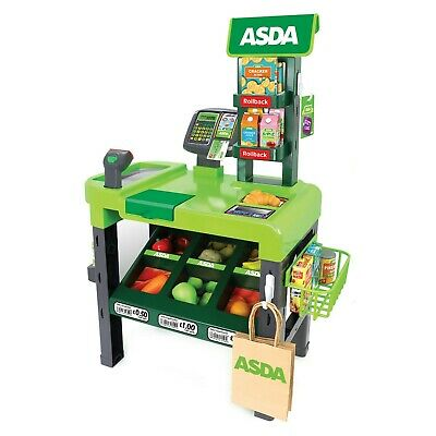 ASDA Toy Checkout Kids Roleplay Cash Register Pretend Play Supermarket Fun Gift • 45.44£