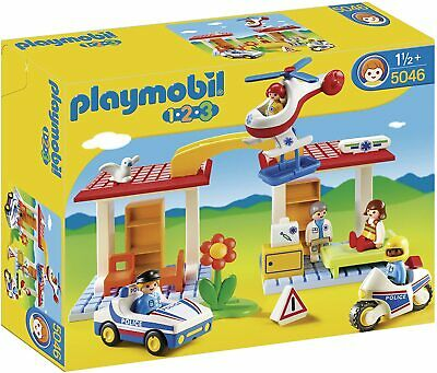 Playmobil 5046 | 123 | Hospital With Paramedics And Police Officers Playset | • 18.98£