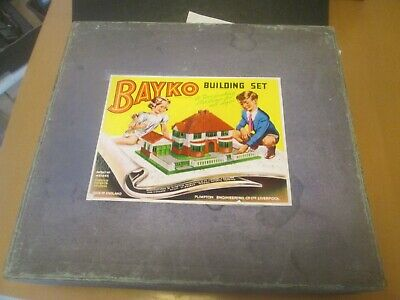 ORIGINAL  BAYKO SET NUMBER 4  EMPTY BOX (With Tray) + ANOTHER REFABRICATED BOX • 27.99£