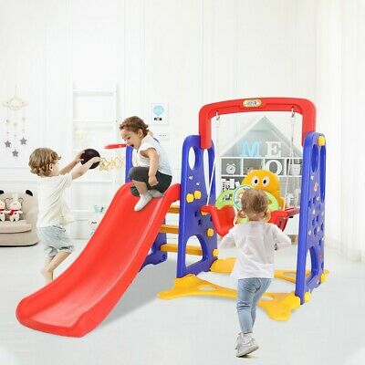 3-in-1 Mountaineering And Swing Baskets Set Toys Suitable For Indoor Backyard UK • 115.27£