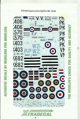 Xtradecal Decals 72128 Spitfire Mk.22 Mk.24 Decals In 1:72 Scale • 7.50£