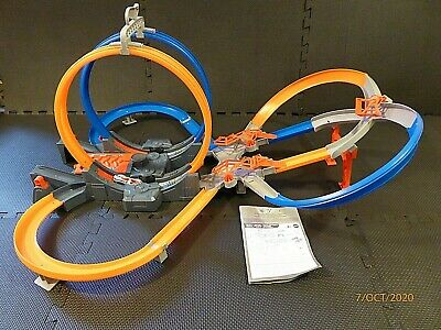 Hot Wheels Mega Loop Mayhem Track Set With Battery Power Launcher Unboxed NM • 24.97£